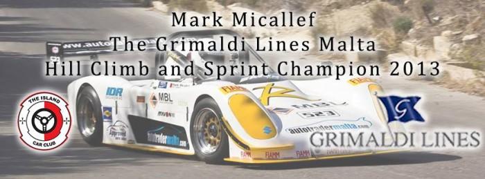 Mark Micallef becomes the ICC Grimaldi Lines 2013 Champion