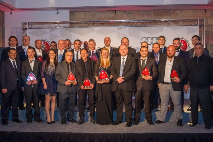 John Drury awarded Honourable Recognition at the Audi Malta Motorsport Awards