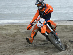 ASM riders participating in Beachcross competition