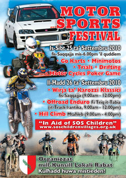 MOTORSPORT FESTIVAL organised by Rabat Local Council