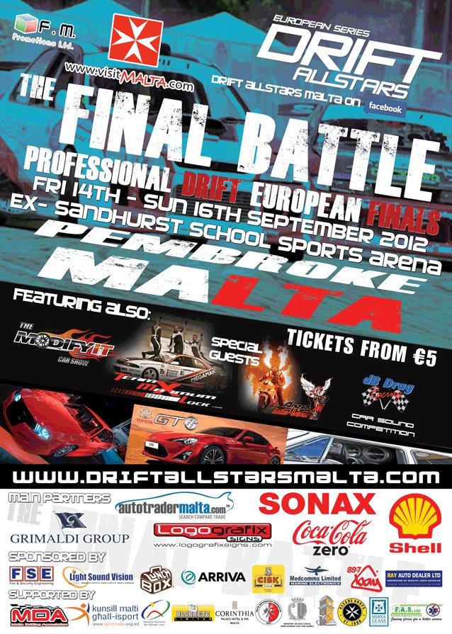 Drift All Stars final in Malta!
