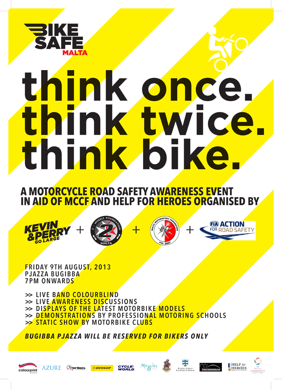 Bike safety awareness day in the bugibba piazza