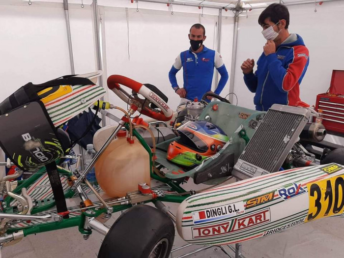 Karting racing drivers Gianluca Dingli and Kyle Micallef in Rok Super Finals 2020
